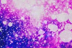 festlig bakgrundsjul Elegant abstrakt bakgrund med ljus och stjärnor Fotografering för Bildbyråer
