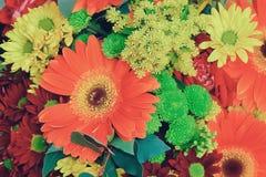 Festlig bukett av blommor Fotografering för Bildbyråer