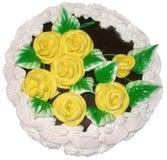 festlig cake Arkivfoto