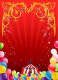 Festlig cirkusbakgrund Arkivfoton