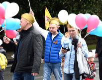 Festlig demonstration Royaltyfria Foton