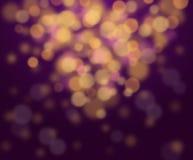 Festlig elegant abstrakt bakgrund med bokehljus Royaltyfri Bild