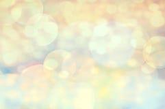 Festlig elegant abstrakt bakgrund med defocused guld- för bokeh Fotografering för Bildbyråer