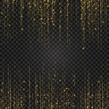 Festlig explosion av konfettier Guld blänker bakgrund för kortet, inbjudan Dekorativ beståndsdel för ferie Arkivfoton