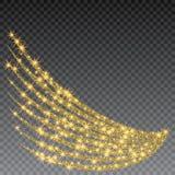 Festlig explosion av konfettier Guld blänker bakgrund för kortet, inbjudan Dekorativ beståndsdel för ferie royaltyfri illustrationer