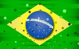 Festlig flagga av Brasilien Arkivbild