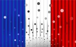 Festlig flagga av Frankrike Royaltyfria Bilder