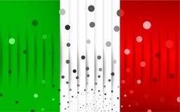 Festlig flagga av Italien Royaltyfria Bilder