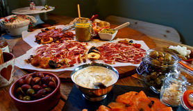 Festlig gourmet- tabell Arkivbild