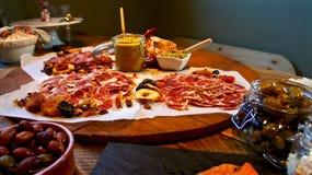 Festlig gourmet- tabell Royaltyfria Bilder