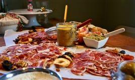 Festlig gourmet- tabell Fotografering för Bildbyråer