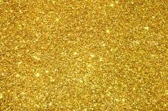 Festlig guld- paljettbakgrund Arkivfoto