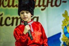 Festlig händelse som ägnas till dagen av arbetare av hus och kollektiv service i Kaluga (Ryssland) 17 mars 2016 Royaltyfri Foto