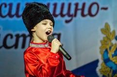 Festlig händelse som ägnas till dagen av arbetare av hus och kollektiv service i Kaluga (Ryssland) 17 mars 2016 Arkivfoto