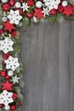 Festlig julbakgrundsgräns fotografering för bildbyråer