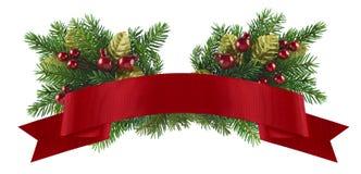 Festlig julbeståndsdel Arkivbild