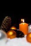 Festlig julgarnering i apelsin Royaltyfri Foto