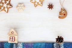 Festlig julsaga Arkivbilder