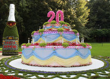 Festlig kaka Royaltyfria Bilder