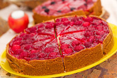 Festlig kaka med bär Royaltyfria Bilder