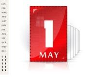 Festlig kalender royaltyfri illustrationer