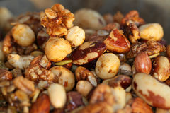 festlig nuts kryddig treat Arkivbild