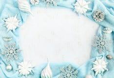 Festlig ordning för jul av dekorativa beståndsdelar Royaltyfri Fotografi