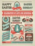 Festlig påsk för nyheternatidning vektor illustrationer