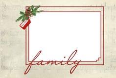 festlig ram för familj Royaltyfri Fotografi