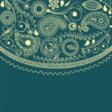 festlig ram paisley Royaltyfri Foto