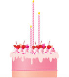 Festlig rosa cake för festlig rosa cake royaltyfri illustrationer