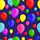 Festlig sömlös bakgrund med ballonger royaltyfri fotografi