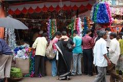 festlig shopping Royaltyfri Foto