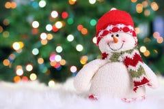 festlig snowman Arkivbild