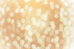 festlig suddig bakgrund med vitrundabokeh Arkivbild