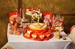 festlig tabell Royaltyfri Fotografi