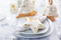 Festlig tabell för jul royaltyfri fotografi