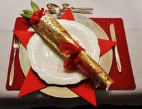 festlig tabell för matställe Royaltyfri Bild