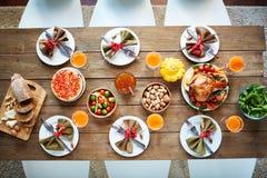 Festlig tabell för tacksägelse arkivbilder