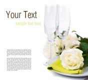 Festlig tabell som ställer in den klara mallen Fotografering för Bildbyråer