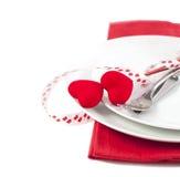 Festlig tabellinställning för valentin dag Royaltyfria Foton