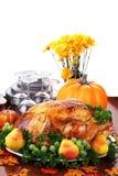 festlig tacksägelse för matställe Royaltyfria Bilder