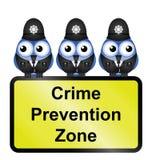 Brottsförebyggande zonplanerar vektor illustrationer