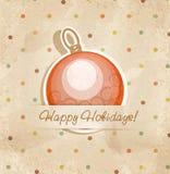 Festlig vektorbakgrund med julbollen stock illustrationer