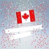 festlig vykort för Kanada dag Royaltyfria Bilder