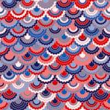 Festliga amerikanska flagganband som bunting garnering Patriotisk USA röd blå vit bakgrund vektor illustrationer