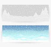 Festliga bakgrunder för vinter Arkivbilder