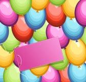 Festliga bakgrundsballonger stock illustrationer