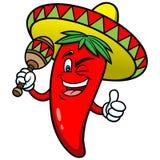 Festliga Chili Pepper vektor illustrationer