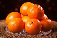 festliga clementines Arkivbilder